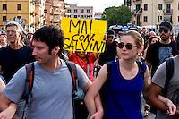 Roma 3 Giugno 2015<br /> Momenti di tensione al presidio anti-rom a Boccea, a Roma, cui hanno partecipato il movimento di estrema destra Casapound e alcuni comitati di quartiere. Una iniziativa contestata da antifascisti, e movimenti per la casa. Boccea &egrave; il quartiere dove mercoled&igrave; 27 maggio un'auto guidata da un 17enne  rom, ha investito nove persone e ucciso la 44enne filippina Corazon Abordo. La manifestazione degli antifascisti<br /> Rome June 3, 2015<br /> Moments of tension to the protest anti-Roma Boccea in Rome, attended by the far-right movement Casapound and some neighborhood committees. An initiative opposed by anti-fascists, and movements for the house. Boccea is the neighborhood where Wednesday, May 27 car driven by a 17 year old Roma, has invested nine people and killed the 44 year old Filipino Corazon Abordo. The demostration of the  anti-fascists against  the far-right movement Casapound