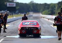 May 13, 2016; Commerce, GA, USA; NHRA pro stock driver Drew Skillman during qualifying for the Southern Nationals at Atlanta Dragway. Mandatory Credit: Mark J. Rebilas-USA TODAY Sports