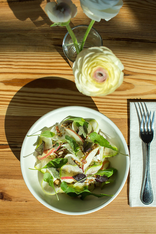 Raleigh, North Carolina - Thursday March 24, 2016 - Standard Foods' Turnip and Apple Salad.