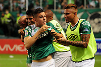 CALI - COLOMBIA -19-03-2017:Nicolas Benedetti (Izq.), jugador de Deportivo Cali celebra el gol anotado a America, durante partido de la fecha 10 entre Deportivo Cali y America de Cali, por la Liga Aguila I-2017, jugado en el estadio Deportivo Cali (Palmaseca)  de la ciudad de Cali. / Nicolas Benedetti (L), player of Deportivo Cali celebrates a scored goal to America, during a match of the date 10 between Deportivo Cali and America de Cali,  for the Liga Aguila I-2017 at the Deportivo Cali (Palmaseca) stadium in Cali city. Photo: VizzorImage  / Nelson Rios / Cont.