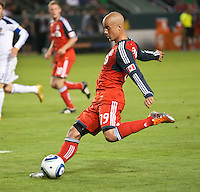 CARSON, CA – June 11, 2011: Toronto FC midfielder Mikael Yourassowsky (19) during the match between LA Galaxy and Toronto FC at the Home Depot Center in Carson, California. Final score LA Galaxy 2, Toronto FC 2.