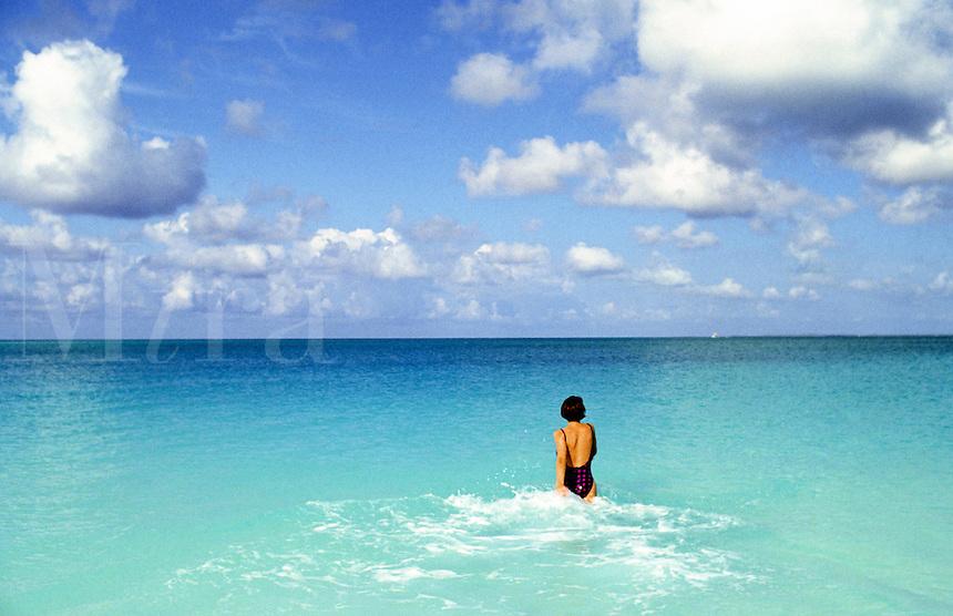 Morning swim, Carribean<br />