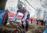 Wietse Bosmans (BEL/Beobank-Corendon) during recon<br /> <br /> men's race<br /> CX Soudal Classics Leuven/Belgium 2017