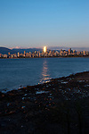 Downtown Vancouver from  Jericho beach,Vancouver,British Colombia