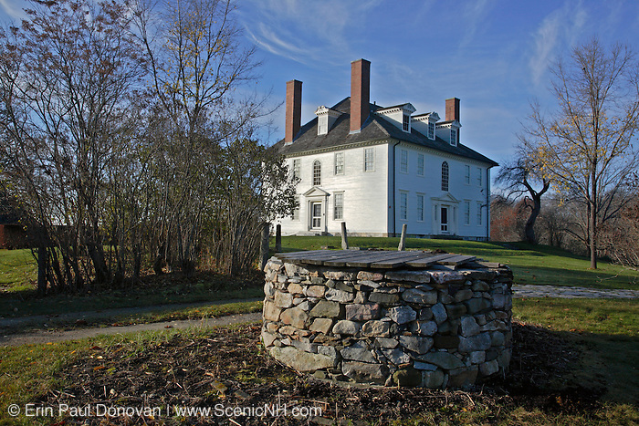 Hamilton House during the autumn months....located in South Berwick, Maine USA which is part of scenic New England....This house is a National Historic Landmark