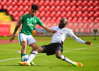 Lincoln City's Josh Ginnelly vies for possession with Gateshead's Jamal Fyfield<br /> <br /> Photographer Andrew Vaughan/CameraSport<br /> <br /> Vanarama National League - Gateshead v Lincoln City - Monday 17th April 2017 - Gateshead International Stadium - Gateshead <br /> <br /> World Copyright &copy; 2017 CameraSport. All rights reserved. 43 Linden Ave. Countesthorpe. Leicester. England. LE8 5PG - Tel: +44 (0) 116 277 4147 - admin@camerasport.com - www.camerasport.com