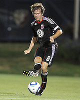 Carey Talley #8 of D.C. United during a US Open Cup match against the Harrisburg City Islanders at the Maryland Soccerplex on July 21 2010, in Boyds, Maryland. United won 2-0.