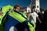 "2008-12-28-Hatillo, Puerto Rico-Hatillo Mask Festival (Festival de Mascaras de Hatillo) has its origin inspired on the biblical story when King Herod order the killing of the children.  The festival is held every year on the Day of the Innocents.  Groups of men and women dress in colorful costumes and ride around the countryside during the day, gathering at the town plaza in the afternoon, where a group of judges selects the best ""comparsa""."