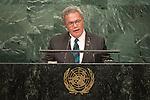 Tuvalu<br /> H.E. Mr. Enele Sosene Sopoaga<br /> Prime Minister<br /> <br /> General Assembly Seventy-first session, 17th plenary meeting<br /> General Debate