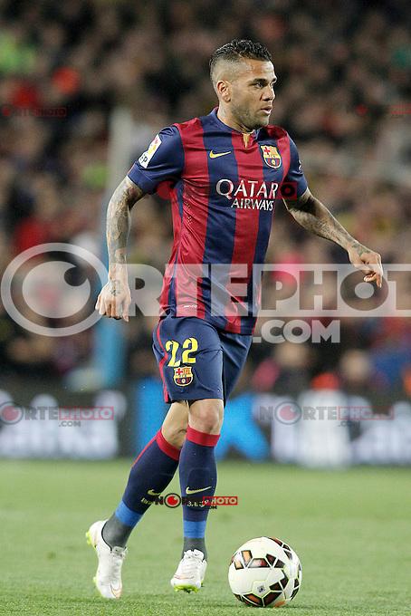 FC Barcelona's Daniel Alves during La Liga match.March 22,2015. (ALTERPHOTOS/Acero) /NORTEphoto.com