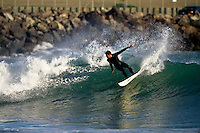 Brandon Kingi at Lyall Bay...A small ground swell kicks in - Wellington, New Zealand 15th March 2010