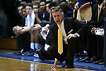 04 February 2015: Georgia Tech head coach Brian Gregory. The Duke University Blue Devils hosted the Georgia Tech Yellow Jackets at Cameron Indoor Stadium in Durham, North Carolina in a 2014-16 NCAA Men's Basketball Division I game. Duke won the game 72-66.