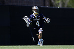 DURHAM, NC - APRIL 08: Notre Dame's Anthony Marini. The Duke University Blue Devils hosted the University of Notre Dame Fighting Irish on April 8, 2017, at Koskinen Stadium in Durham, NC in a Division I College Men's Lacrosse match. Duke won the game 11-8.