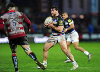 Nathan Catt of Bath Rugby in possession. Aviva Premiership match, between Gloucester Rugby and Bath Rugby on March 26, 2016 at Kingsholm Stadium in Gloucester, England. Photo by: Patrick Khachfe / Onside Images