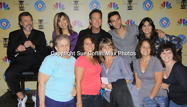 Days Of Our Lives National Tour - Joseph Mascolo, Lauren Koslow, Drake Hogestyn, Blake Berris, Camila Banus and fans on September 23, 2012 at The Shops at Mohegan Sun, Uncasville, Connecticut. (Photo by Sue Coflin/Max Photos)