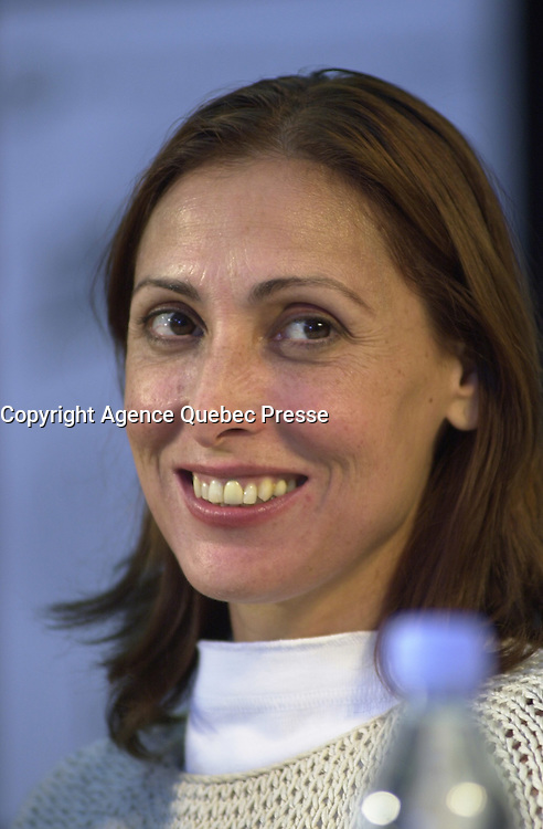 Aug 23,  2002, Montreal, Quebec, Canada<br /> <br /> Actress  Maria Barranco<br /> at  the press conference for<br /> EL VIAJE DE CAROL (Carol's Journey / Le Voyage de Carol), directed by Imanol Uribe and presented in the official competition of the 26th World Film Festival<br /> <br /> l <br /> <br /> Mandatory Credit: Photo by Pierre Roussel- Images Distribution. (&copy;) Copyright 2002 by Pierre Roussel <br /> <br /> NOTE : <br />  Nikon D-1 jpeg opened with Qimage icc profile, saved in Adobe 1998 RGB<br /> .Uncompressed  Uncropped  Original  size  file availble on request.