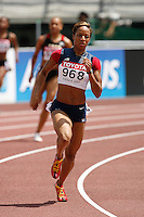 Natasha Hastings ran 51.07sec. in the 1st. round of the 400m on Sunday, August 26, 2007. Photo by Errol Anderson,The Sporting Image.