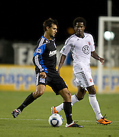 Chris Wondolowski of Earthquakes in action during the game against DC United at Buck Shaw Stadium in Santa Clara, California on July 30th, 2011.   DC United defeated San Jose Earthquakes, 2-0.