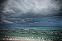 Namotu Island Resort, Fiji.  (Sunday, March 12, 2011) A tropical thunder storm approaches Namotu Island bringing thunder, lightning and rain before moving further out to sea..- Photo: joliphotos.com