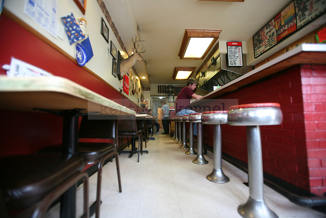"""The White Flash, a diner in downtown Jackson, Ky., has been open since 1939. """"There's a lot of history in here,"""" said Owner Mary Lou Campbell on Thursday, Oct. 13, 2011. Photo by Tessa Lighty"""