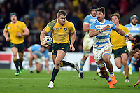 Drew Mitchell of Australia goes on the attack. Rugby World Cup Semi Final between Argentina v Australia on October 25, 2015 at Twickenham Stadium in London, England. Photo by: Patrick Khachfe / Onside Images