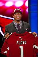 The 13th overall pick wide receiver Michael Floyd (Notre Dame) of the Arizona Cardinals during the first round of the 2012 NFL Draft at Radio City Music Hall in New York, NY, on April 26, 2012.