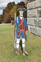 Minuteman outside the Bennington Battle Monument, the tallest structure in Vermont