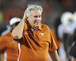 Ole Miss vs. Texas head coach Mack Brown at Vaught-Hemingway Stadium in Oxford, Miss. on Saturday, September 15, 2012. Texas won 66-21. Ole Miss falls to 2-1.