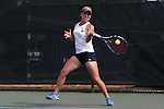 20 April 2016: Notre Dame's Allison Miller. The University of Notre Dame Fighting Irish played the University of Pittsburgh Panthers at the Cary Tennis Center in Cary, North Carolina in the first round of the Atlantic Coast Conference Women's Tennis Tournament. Notre Dame won the match 4-3.