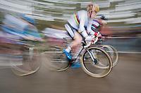 Sanne Cant (BEL) speeding away<br /> <br /> elite womens race<br /> Krawatencross Lille 2017