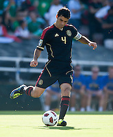 PASADENA, CA – June 25, 2011: Mexico player Rafael Marquez (4)  during the Gold Cup Final match between USA and Mexico at the Rose Bowl in Pasadena, California. Final score USA 2 and Mexico 4.