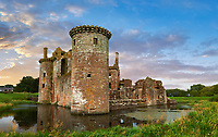 Exterior of Caerlaverock Castle, Dumfries Galloway, Scotland,