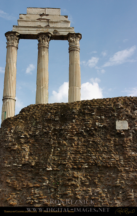 Temple of Castor and Pollux Forum Romanum Rome