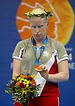 Chelsey Gottell won the bronze in 200 m race .<br /> (Benoit Pelosse photographe)