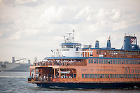 The Staten Island Ferry on its way to it's St. George Terminal in New York on Thursday, June 30, 2016.  (© Richard B. Levine)