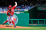 20 June 2010: Washington Nationals' starting pitcher John Lannan on the mound against the Chicago White Sox at Nationals Park in Washington, DC. The Nationals were swept by the White Sox falling 6-3 in the last game of their 3-game interleague series. Mandatory Credit: Ed Wolfstein Photo