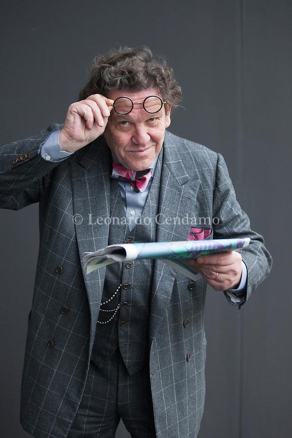 Philippe Daverio (Mulhouse, 17 ottobre 1949) è uno storico dell'arte, docente, scrittore, autore e personaggio televisivo italiano. Milano 19 novembre 2016. © Leonardo Cendamo
