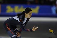 SCHAATSEN: HEERENVEEN: IJsstadion Thialf, 07-02-15, World Cup, 500m Ladies Division A, Sang-Hwa Lee (KOR), ©foto Martin de Jong