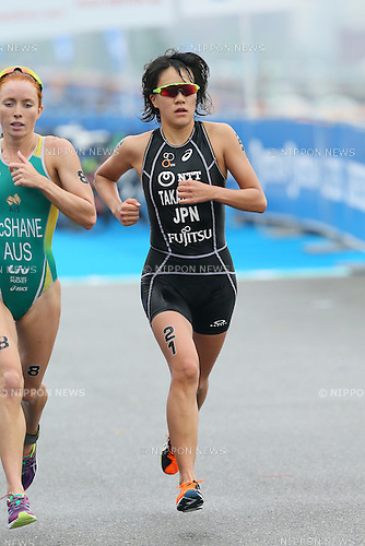 Yuko Takahashi (JPN), <br /> MAY 16, 2015 - Triathlon : <br /> 2015 ITU World Triathlon Series Yokohama <br /> Women's Elite <br /> in Yokohama city, Kanagawa, Japan. <br /> (Photo by YUTAKA/AFLO SPORT)