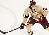 Patrick Brown (BC - 23) - The visiting University of Notre Dame Fighting Irish defeated the Boston College Eagles 2-1 in overtime on Saturday, March 1, 2014, at Kelley Rink in Conte Forum in Chestnut Hill, Massachusetts.