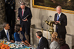 Vice President Joseph R. Biden speaks at the Inaugural Luncheon in Statuary Hall at the U.S. Capitol on Monday, January 21, 2013 in Washington, DC.