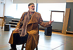 "Renowned actor Stephen Yoakam rehearses scenes from ""An Iliad"" at the Guthrie Theate on Thursday, April 18, 2013. The show opens on Wednesday, May 8th."