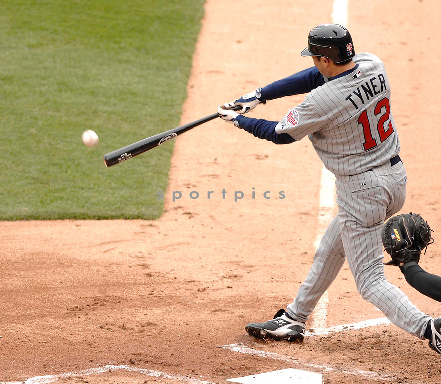 JASON TYNER, of the Minnesota Twins during their game against the Chicago White Sox, on April 7, 2007 in Chicago, IL. ..White Sox  win 3-0....DAVID DUROCHIK / SPORTPICS