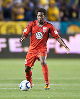 CARSON, CA – June 3, 2011: DC United midfielder Clyde Simms (19) during the match between LA Galaxy and DC United at the Home Depot Center in Carson, California. Final score LA Galaxy 0, DC United 0.