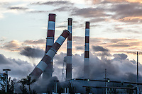 Recent demolition of the power plant in Port Everglades, Florida.