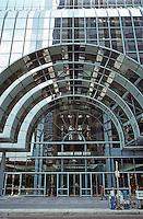 Helmut Jahn: Northwestern Terminal Entrance--after Sullivan.  Photo '88.