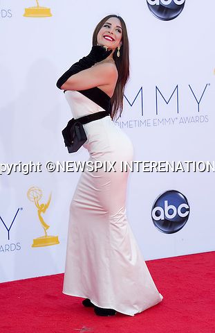 """MAYRA VERONICA - 64TH PRIME TIME EMMY AWARDS.Nokia Theatre Live, Los Angelees_23/09/2012.Mandatory Credit Photo: ©Dias/NEWSPIX INTERNATIONAL..**ALL FEES PAYABLE TO: """"NEWSPIX INTERNATIONAL""""**..IMMEDIATE CONFIRMATION OF USAGE REQUIRED:.Newspix International, 31 Chinnery Hill, Bishop's Stortford, ENGLAND CM23 3PS.Tel:+441279 324672  ; Fax: +441279656877.Mobile:  07775681153.e-mail: info@newspixinternational.co.uk"""
