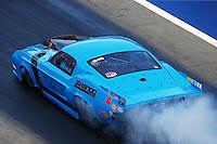 Jun 18, 2016; Bristol, TN, USA; NHRA pro mod driver Michael Biehle during qualifying for the Thunder Valley Nationals at Bristol Dragway. Mandatory Credit: Mark J. Rebilas-USA TODAY Sports