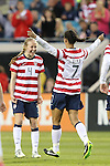 09 February 2012: Shannon Boxx (USA) (7) celebrates her goal with Becky Sauerbrunn (USA) (4). The United States Women's National Team played the Scotland Women's National Team at EverBank Field in Jacksonville, Florida in a women's international friendly soccer match. The U.S. won the game 4-1.