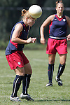 28 September 2006: Lori Chalupny (left). The United States Women's National Team trained at the Home Depot Center in Carson, California.